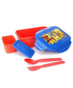 Tom And Jerry Medium Lunch Box - Orange And Blue