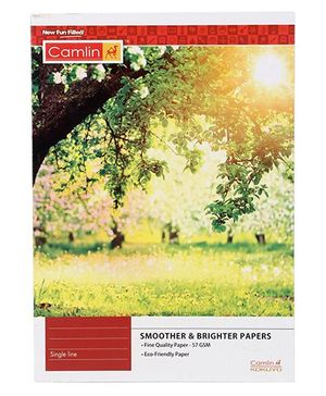 Camlin High Quality Note Book Single Line - 140 Pages