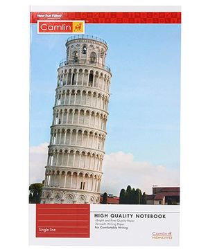 Camlin High Quality Note Book Single Line - 88 Pages