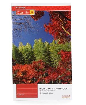 Camlin High Quality Note Book Single Line - 104 Pages