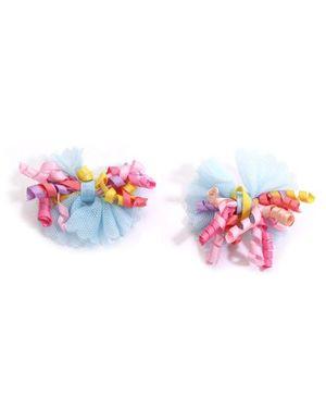 NeedyBee Korker Bow Hair Clips - Blue