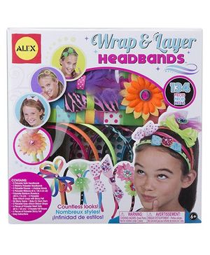 Alex Toys Wrap And Layer Headbands - Multicolor