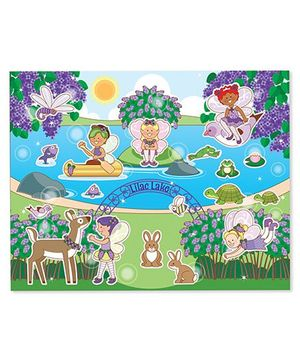 Melissa And Doug Scratch And Sniff Floral Fairies Sticker Pad Multicolor - 120 + Stickers