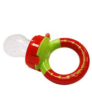 Clevamama ClevaFeed Silicon Safe Feeder With Extra Teat - Red