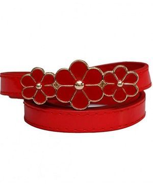 D'Chica 3 Dainty Flowers Belt - Red
