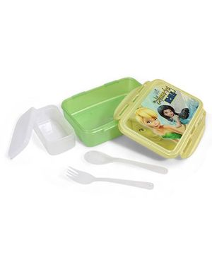 Cello Homeware Lunch Box With Small Container Spoon And Fork - Green