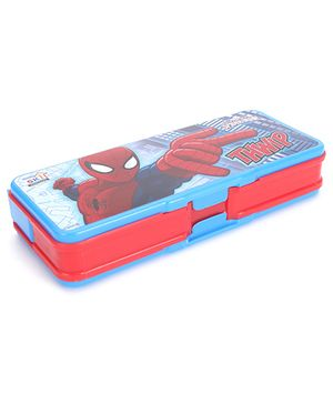Marvel Spider Man Print Pencil Box - Red And Blue
