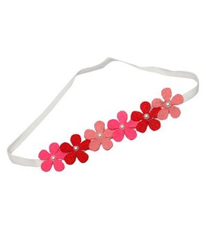 D'Chica A Chic Felt Headband For Girls - Pink & Red