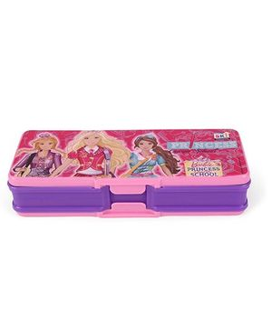 Barbie Princess School Pencil Box - Pink and Purple