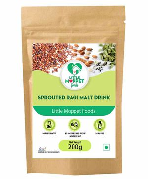 Little Moppet Baby Foods Sprouted Ragi Malt Drink - 200 gm