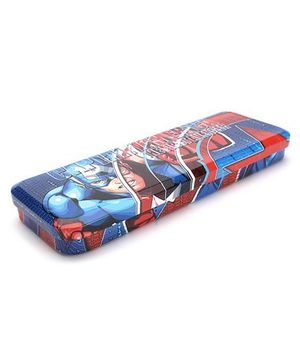 Marvel Iron Man Pencil Box - Blue