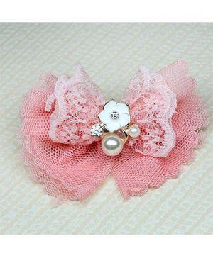 Asthetika Net Bow Hair Clip - Pink