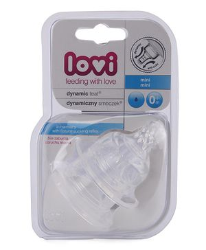 Lovi Dynamic Silicone Teat - Pack Of 2