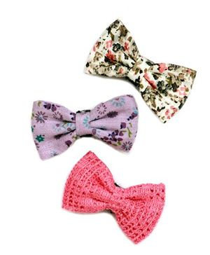 Pigtails And Ponys Pastel Bow Hair Clips - Multicolour