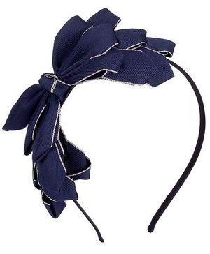 ATUN Grand Bow Hair Band - Navy Blue