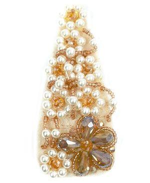 ATUN Honey Bead & Pearl Studded Hair Clip - Beige