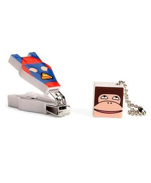 Adore Baby Cartoon Nail Clipper With Monkey Face Cap Blue (Character May Vary)