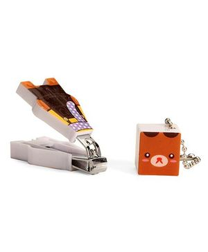 Adore Baby Cartoon Nail Clipper With Cap Brown (Character May Vary)
