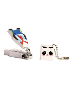 Adore Baby Cartoon Nail Clipper With Cap - Blue & White