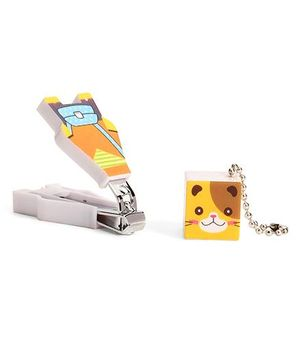 Adore Baby Cartoon Nail Clipper With Cap - Yellow And Orange