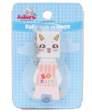 Adore Baby Cartoon Nail Clipper With Cap (Character May Vary)