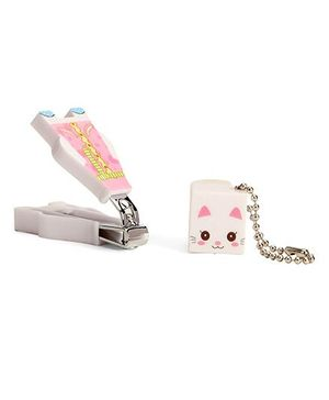 Adore Baby Cartoon Nail Clipper With Cap - Pink & White