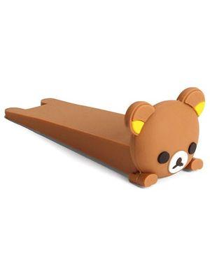Adore Baby Silicon Door Stopper Teddy Face - Brown