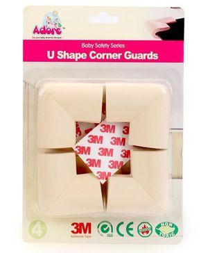 Adore Baby U Shape Corner Guards Pack of 4 - Cream