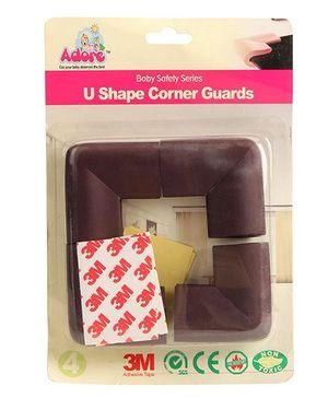 Adore Baby 'U' Corner Guard - Brown