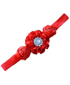 Little Cuddle Satin Flower Headband - Red