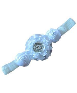 Little Cuddle Satin Flower Headband - White