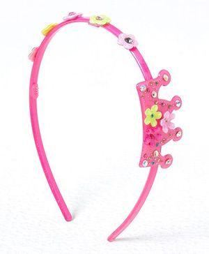 Jumbo Crown Hair Band - Dark Pink