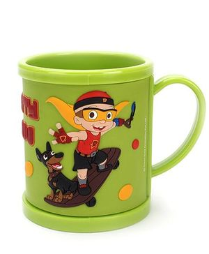 Mighty Raju Print Mug Green -  300 ml