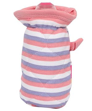 Morisons Baby Dreams Bottle Cover Stripes Print - Pink