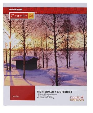 Camlin Small Unruled Notebook  Forest Print - 164 Pages