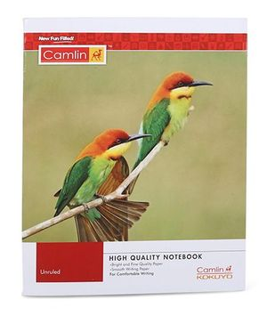 Camlin Small Unruled Notebook  Bird Print - 164 Pages
