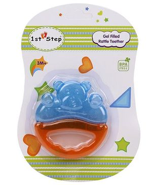 1st Step Gel Filled Rattle Theether - Orange and Blue