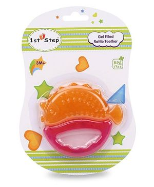 1st Step Gel Filled Rattle Theether - Orange and Pink