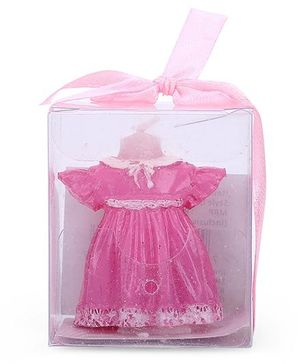 Shopaparty Girls Dress Candle - Pink
