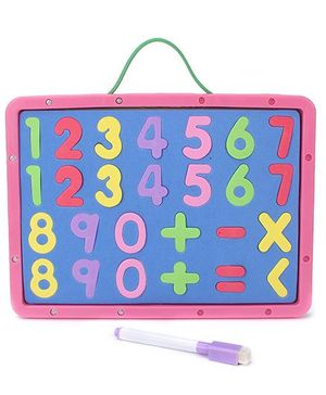 Numeric Cum Writing Board - Pink Blue