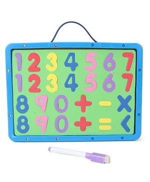 Numeric Cum Writing Board - Blue Green