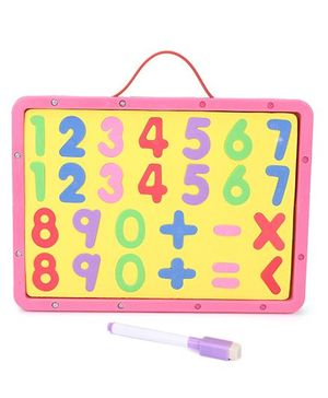 Numeric Cum Writing Board - Pink Yellow