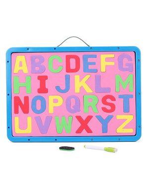 Alphabet Cum Writing Board - Blue Pink