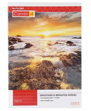 Camlin Single Line Notebook Sunset Print - 180 Pages
