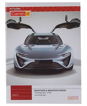 Camlin Single Line Notebook Car Print - 172 Pages