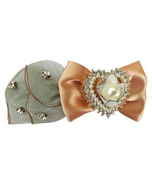 Little Miss Cuttie Studded Barette Clip - Grey