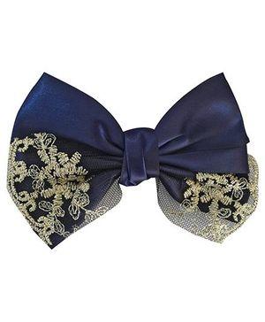 Little Miss Cuttie Barette Clip - Navy Blue