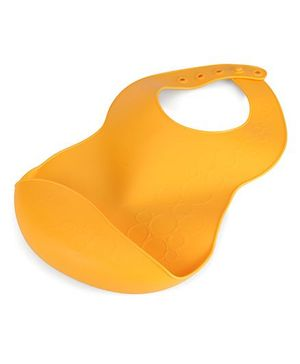 Chicco Soft Bib With Crumb Catcher - Orange