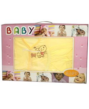 Kiwi Baby Gift Set Baby Print Yellow - 6 Pieces