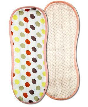 Kadambaby Muslin Burp Cloth Set of 2 - Pink Dots and Polkas